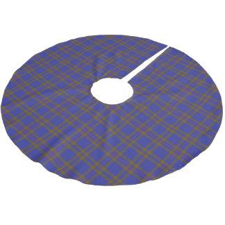 一族のエリオットスコットランドのエリオットのタータンチェック ブラッシュドポリエステルツリースカート
