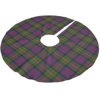 一族のカーネギースコットランドのタータンチェック ブラッシュドポリエステルツリースカート