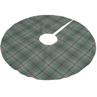 一族のクレイグのスコットランドのタータンチェック ブラッシュドポリエステルツリースカート