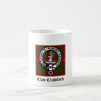 一族のクローフォードの頂上のタータンチェック コーヒーマグカップ