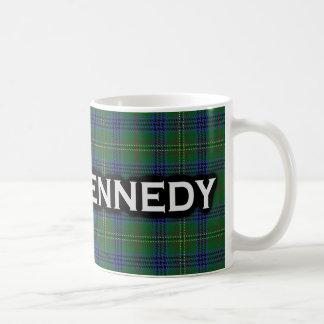 一族のケネディのタータンチェックのスコットランド人 コーヒーマグカップ
