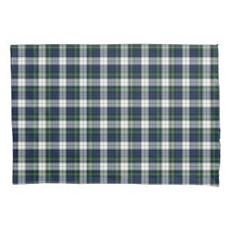 一族のゴードンのタータンチェックの青および白いスコットランドの格子縞 枕カバー