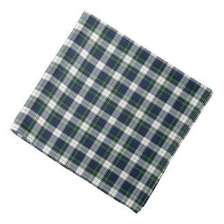 一族のゴードンの青、緑および白い服のタータンチェック バンダナ