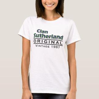 一族のサザランドのヴィンテージはあなたのBirthyearをカスタマイズ Tシャツ