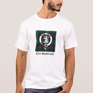 一族のサザランドの頂上及びタータンチェック Tシャツ