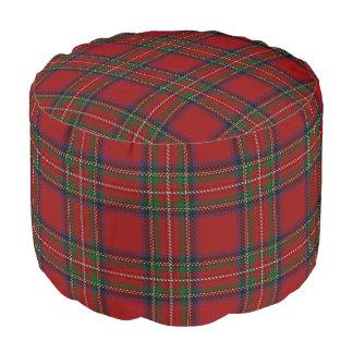 一族のステュワートのスコットランド人のスタイルの赤い青緑のタータンチェック ラウンドクッション
