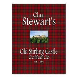 一族のステュワートの古いスターリングの城のコーヒーCo. ポストカード