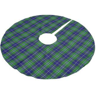 一族のダグラスのスコットランドのタータンチェック ブラッシュドポリエステルツリースカート