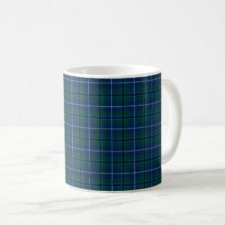 一族のダグラスのモダンのタータンチェック コーヒーマグカップ
