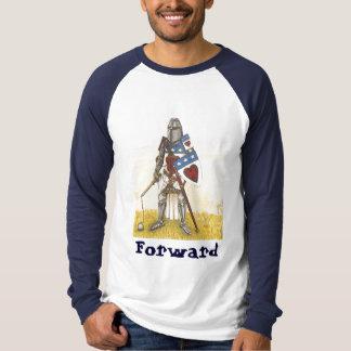一族のダグラスの長い袖Archibald決して後ろ Tシャツ