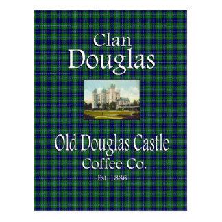 一族のダグラス古いダグラスの城のコーヒーCo. ポストカード