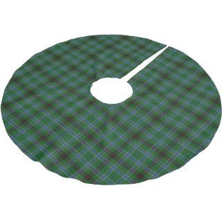 一族のダンカンのスコットランドのタータンチェック ブラッシュドポリエステルツリースカート