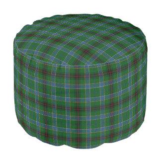 一族のダンカンのスコットランド人のスタイルの青緑のタータンチェック プーフ