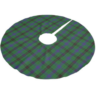 一族のデイヴィッドソンのスコットランドのタータンチェック ブラッシュドポリエステルツリースカート