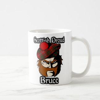 一族のブルースのタータンチェックのスコットランド人 コーヒーマグカップ