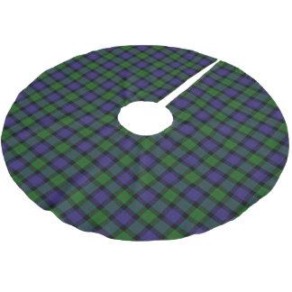 一族のブレアのスコットランドのタータンチェック ブラッシュドポリエステルツリースカート