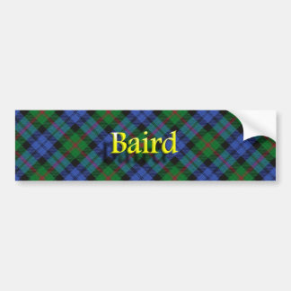 一族のベアードのスコットランドのタータンチェックのバンパーステッカー バンパーステッカー