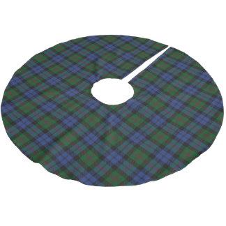 一族のベアードのスコットランドのタータンチェック ブラッシュドポリエステルツリースカート
