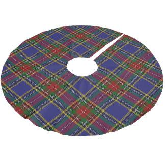 一族のマクベスのスコットランドのタータンチェック ブラッシュドポリエステルツリースカート