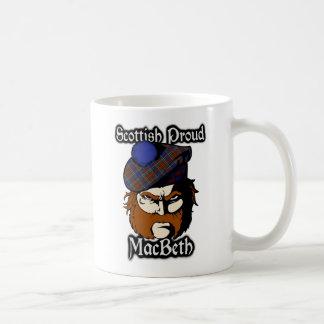 一族のマクベスのタータンチェックのスコットランド人 コーヒーマグカップ