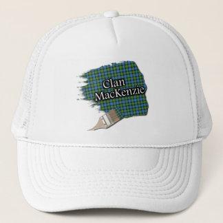一族のマッケンジーのタータンチェックの絵筆の帽子 キャップ