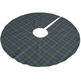 一族のマルコムのスコットランドのタータンチェック ブラッシュドポリエステルツリースカート