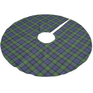 一族のマレーのスコットランドのタータンチェック ブラッシュドポリエステルツリースカート