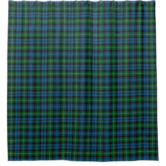 一族のライオンのスコットランドの伝統のタータンチェック シャワーカーテン