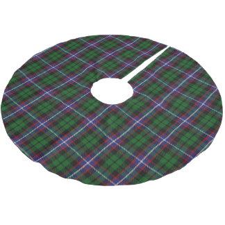 一族のラッセルスコットランドのタータンチェック ブラッシュドポリエステルツリースカート