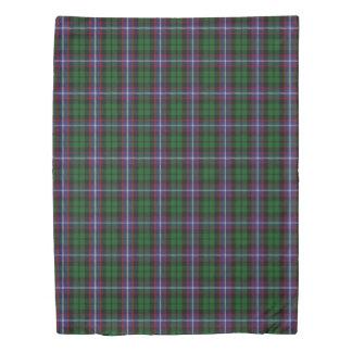 一族のラッセルスコットランド人は青緑のタータンチェックにアクセントを置きます 掛け布団カバー