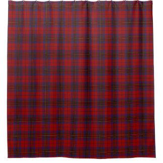 一族のレスリーのスコットランドの赤いタータンチェック シャワーカーテン