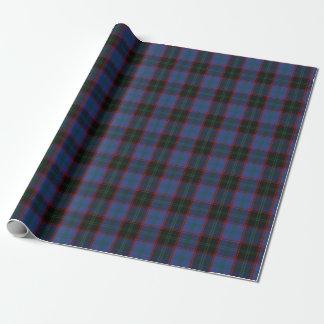 一族の家の青緑の黒の赤いスコットランドのタータンチェック 包装紙