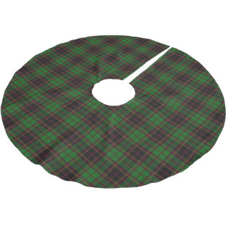 一族のBuchanのスコットランドのタータンチェック ブラッシュドポリエステルツリースカート