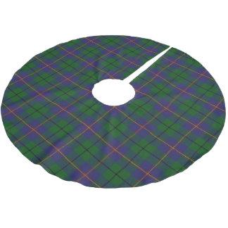 一族のCarmichaelのスコットランドのタータンチェック ブラッシュドポリエステルツリースカート