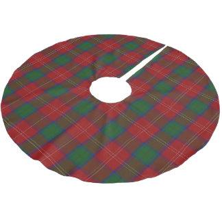 一族のChisholmのスコットランドのタータンチェック ブラッシュドポリエステルツリースカート