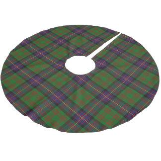 一族のCochraneスコットランドのコクランのタータンチェック ブラッシュドポリエステルツリースカート