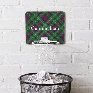 一族のCunninghamのタータンチェックは名前をカスタマイズ ミニバスケットボールネット