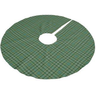 一族のCurrieのスコットランドのタータンチェック ブラッシュドポリエステルツリースカート