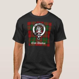 一族のDunbarのタータンチェック及び頂上のバッジ Tシャツ