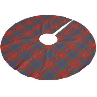 一族のFraserのスコットランドのタータンチェック ブラッシュドポリエステルツリースカート