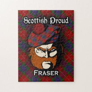 一族のFraserのスコットランドの誇りを持ったなタータンチェック ジグソーパズル