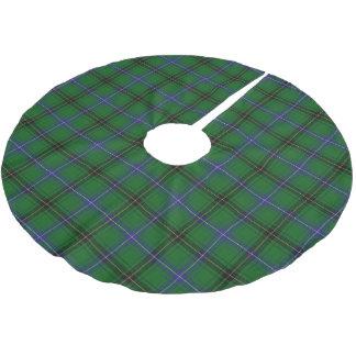 一族のHendersonのスコットランドのタータンチェック ブラッシュドポリエステルツリースカート