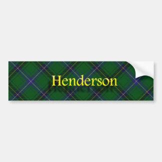 一族のHendersonのスコットランド人のタータンチェック バンパーステッカー