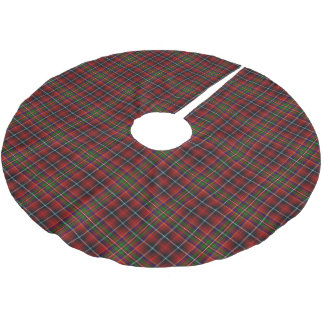 一族のInnesのスコットランドのタータンチェック ブラッシュドポリエステルツリースカート