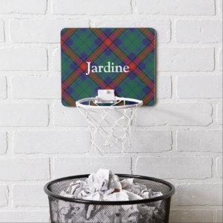 一族のJardineのタータンチェックは名前をカスタマイズ ミニバスケットボールゴール