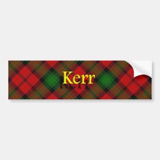 一族のKerrのスコットランド人 バンパーステッカー
