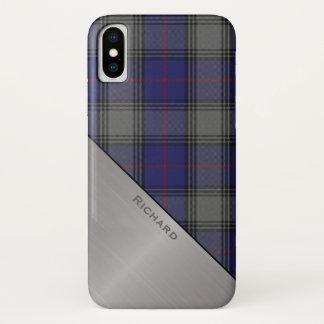 一族のKinnairdのタータンチェック格子縞のiPhone Xの場合 iPhone X ケース