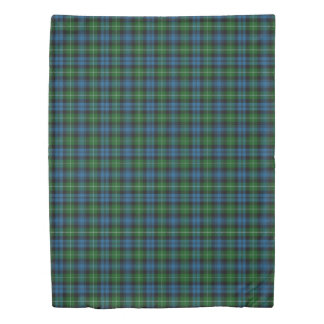 一族のLamontのスコットランド人は青緑のタータンチェックにアクセントを置きます 掛け布団カバー