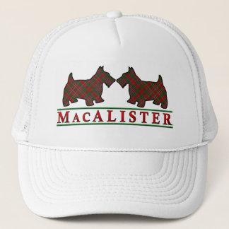 一族のMacAlisterのタータンチェックのスコッチテリア犬 キャップ