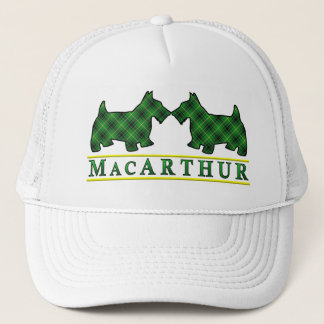 一族のMacArthurのタータンチェックのスコッチテリア犬 キャップ